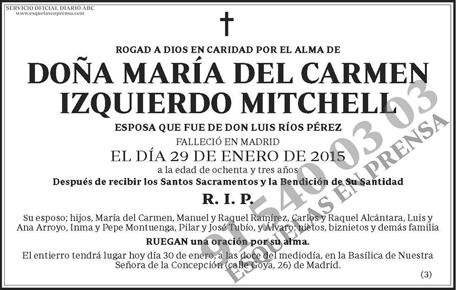 María del Carmen Izquierdo Mitchell